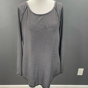 Athleta Striped Shirt Large Black White